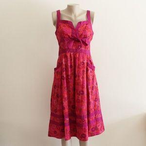 Marc Jacobs Floral Valentines Dress Cotton/Silk